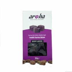 Aroha - Aroha %85 Bitter Çikolatalı Fındıklı Hurma Lokum 150 gr