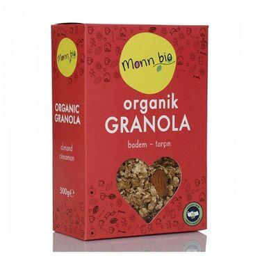 Organik Badem Tarçın Granola 300 gr