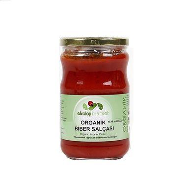 Organik Biber Salçası (Tuzsuz) 660 gr