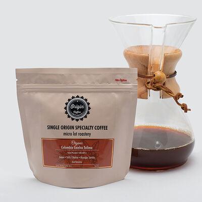 Organik Colombia Excelso Tolima Açık Kavurma Çekirdek Kahve 250gr