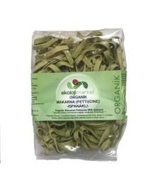 Ekoloji Market - Organik Fettucine Ispanaklı 250 gr
