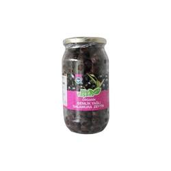 Eko Bio Yaşam - Organik Gemlik Yağlı Salamura Siyah Zeytin Net:700 gr