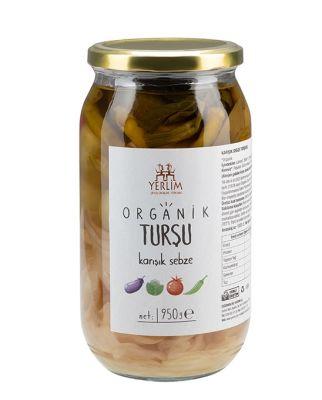 Organik Karışık Sebze Turşusu 950 gr (Glutensiz , Vegan)