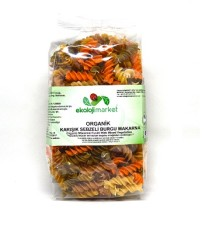 Ekoloji Market - Organik Karışık Sebzeli Burgu Makarna 300 Gr