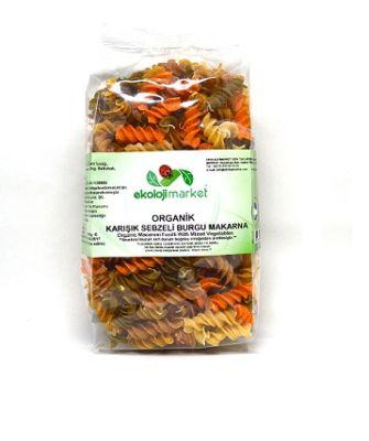 Organik Karışık Sebzeli Burgu Makarna 300 Gr
