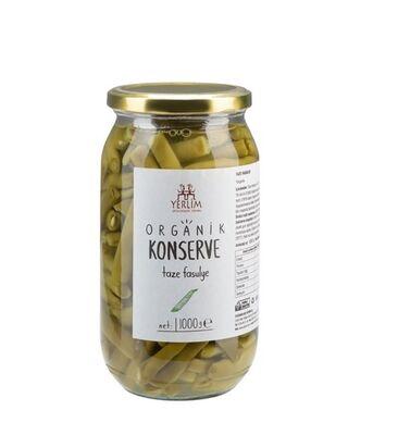 Organik Konserve Taze Fasulye 1000 gr ( Vegan-Glutensiz)