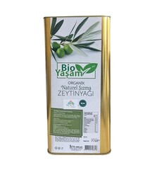 Eko Bio Yaşam - Organik Naturel Sızma Zeytinyağı Teneke Kutu 5 lt