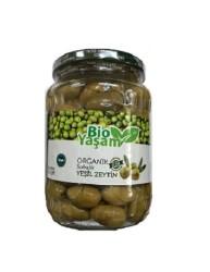 Eko Bio Yaşam - Organik Sofralık Çizik Yeşil Zeytin 600 gr