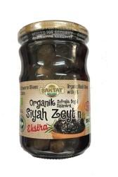 Baktat - Organik Sofralık Doğal Salamura Siyah Zeytin Ekstra Net 650 gr Süzme Ağırlık 380 gr