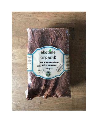 Organik Tam Karabuğday Köy Ekmeği 500 gr (Glutensiz, Vegan )