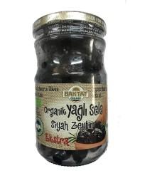 Baktat - Organik Yağlı Sele Siyah Zeytin Ekstra Net 390 gr